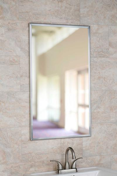 Stainless Steel Channel Framed Mirror